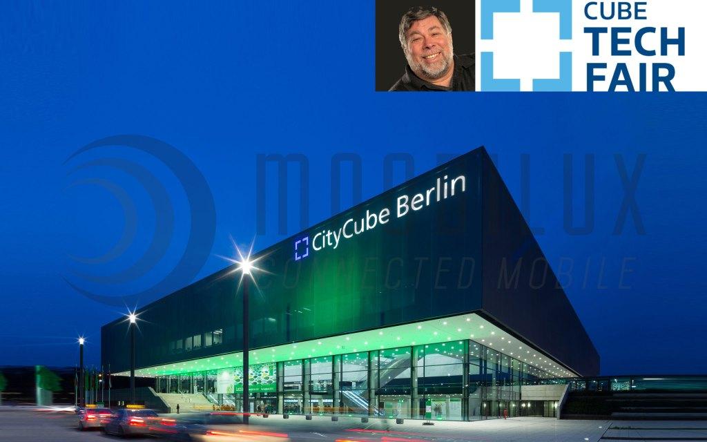Prominente Gästen auf der Cube Tech Fair u. a.  Apple-Mitgründer Steve Wozniak.