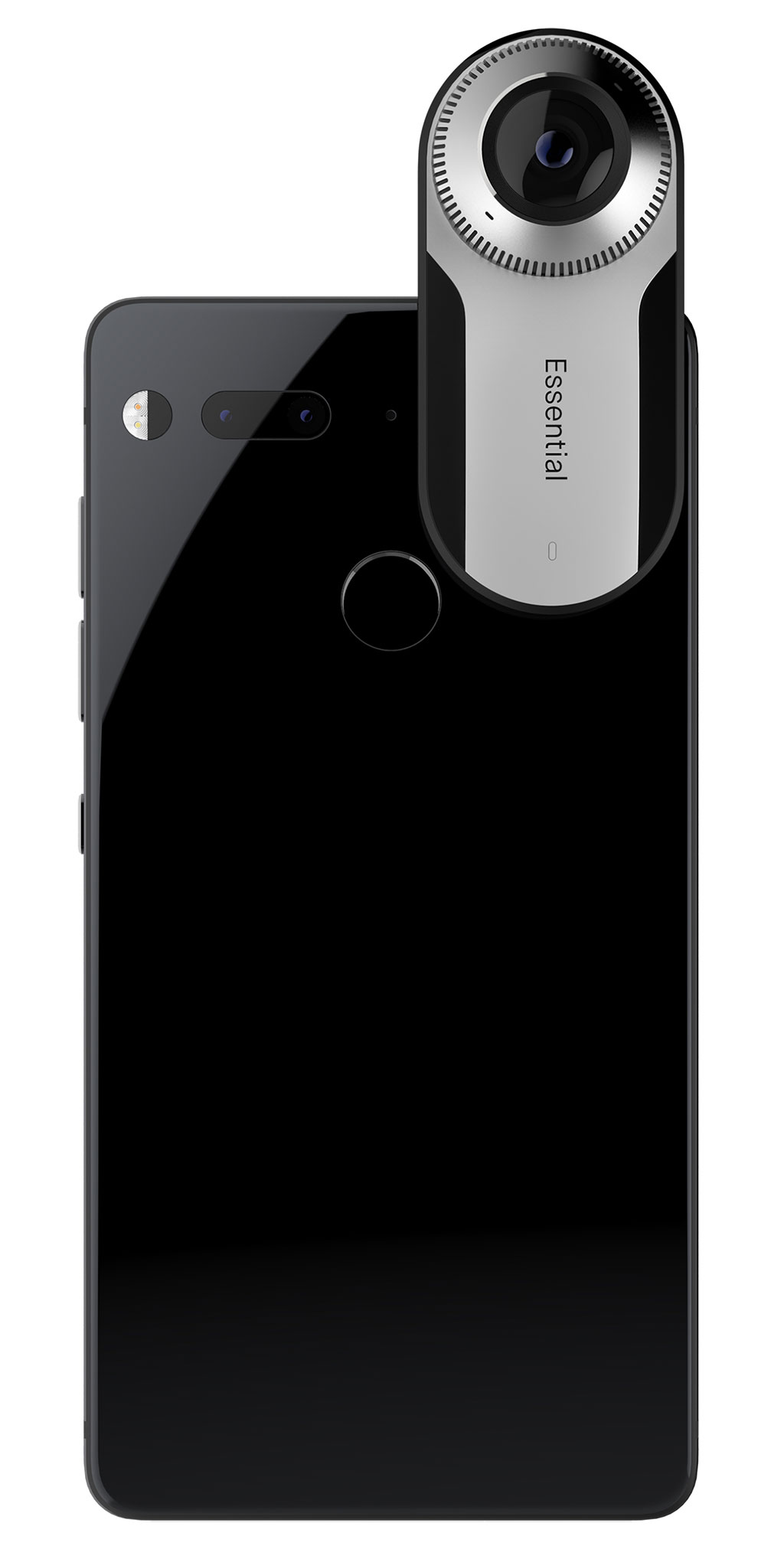 The Essential Phone with docked 360° camera. (Picture: Essential)