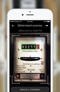 Dank OCR-Funktion kann der Zählerstand bequem per Smartphone-Kamera erfasst werden. (Bild: Yello)