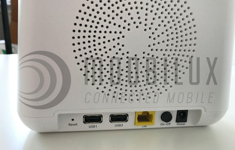 Das Arlo Pro Basis verfügt auf der Rückseite über zwei USB- und einen RJ45-Port (Bild: moobilux.com)