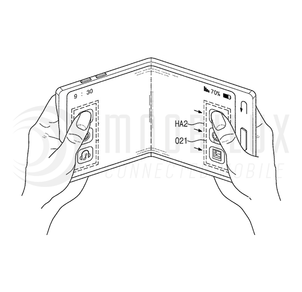 Samsung registers patent for foldable smartphone screen
