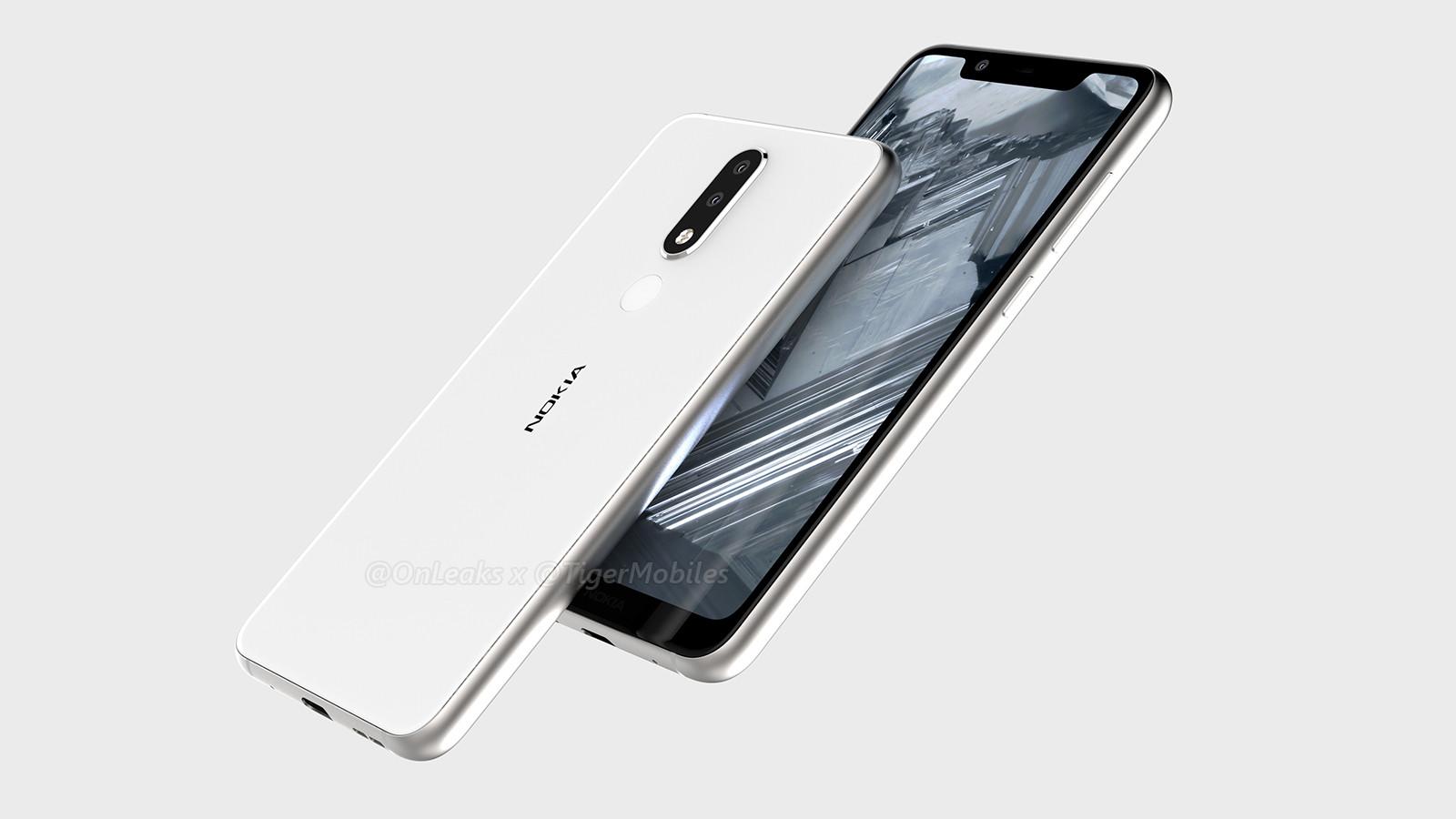 Sehen wir hier, das neue Nokia 5.1 Plus? (Bild: OnLeaks)