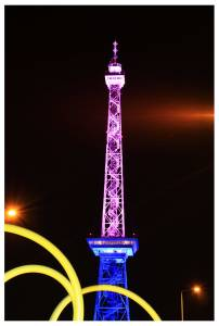 Der Berliner Funkturm zum Festival of Lights 2011 von Thorsten Claus / claus.de