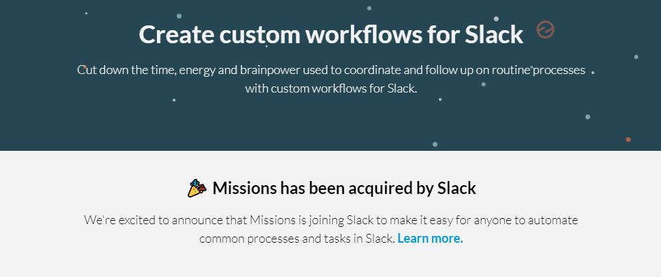 Slack schluckt US-Startup Missions. (Screenshot: moobilux.com)