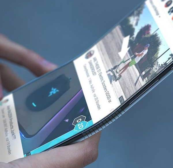 First pictures of a foldable Samsung Galaxy smartphone