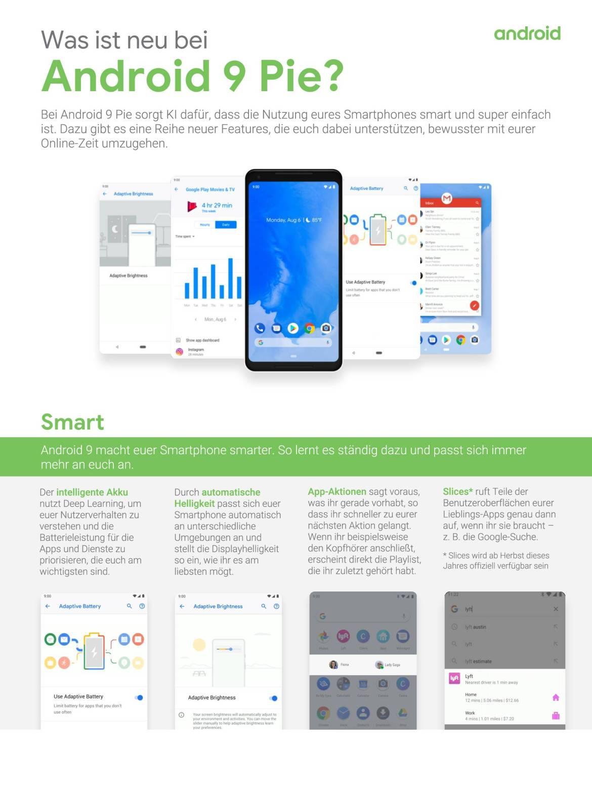 Was ist neu bei Android 9 aka Android Pie? (Grafik: Google)