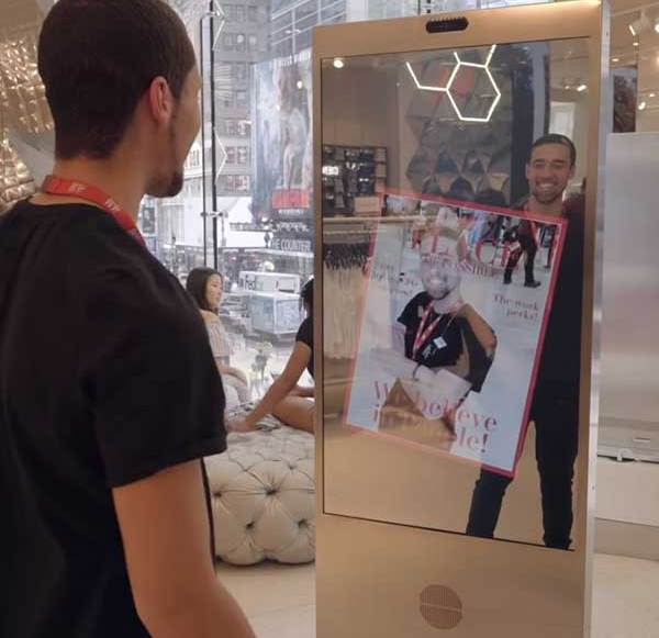 H & M and Microsoft are testing smart mirrors