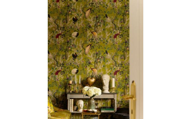Fra le attività svolte anche il montaggio di tappezzerie moderne e di. Orchidea Milano Carta Da Parati Royal Garden Green