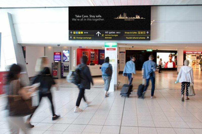 OOH Melbourne Airport digital 2