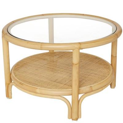 table basse riviera ronde rotin l