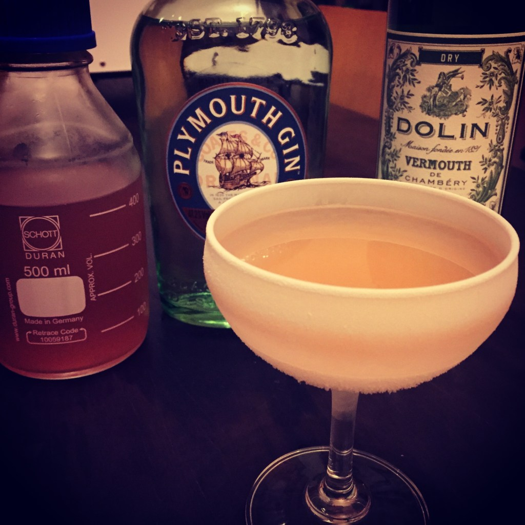 Clarified Lychee Martini - A modernist cocktail by Hanoi's Mood Therapist, Rich McDonough