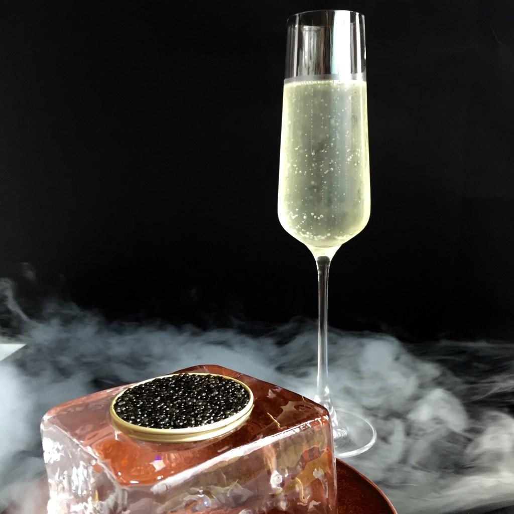 Peach Shampagne - A modernist cocktail by Hanoi's Mood Therapist, Rich McDonough
