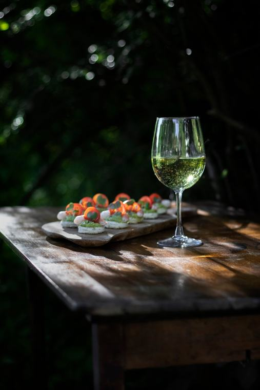 Seasonal Pairing: Pouilly-Fuissé with Shrimp & Avocado Canapés