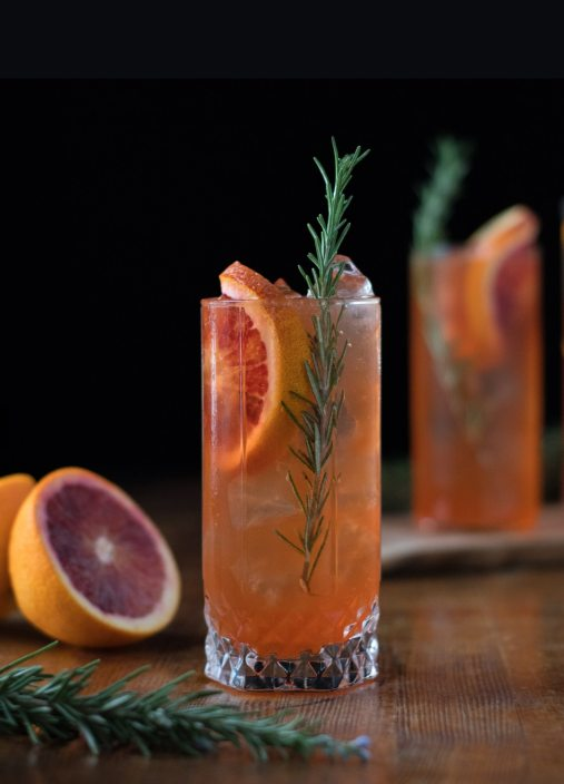 Blood Orange & Turmeric Collins