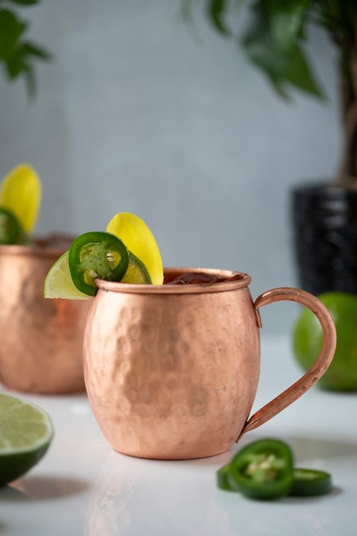 Spicy Jalapeno Mule Mocktail