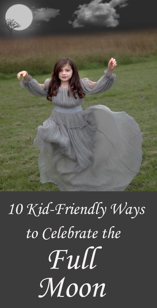 Kid friendly full moon ideas to try with your pagan family.
