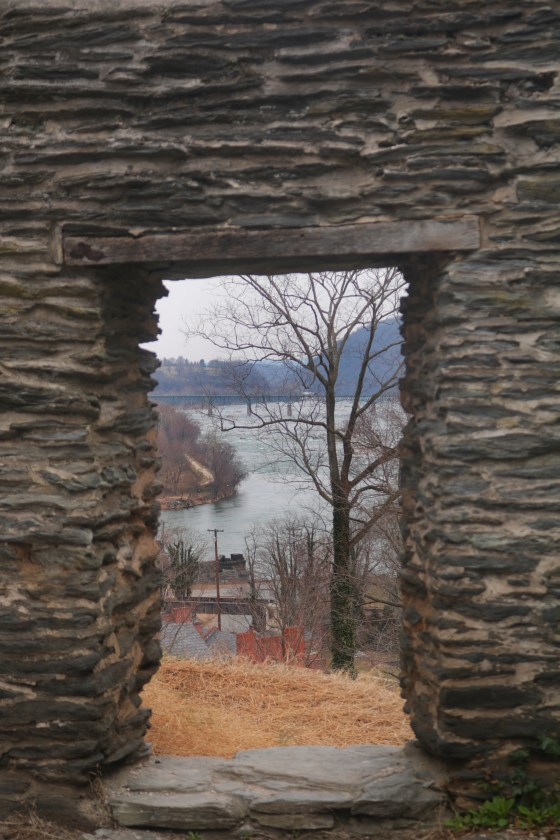 Ruins of St John's Episcopal Church in Harper's Ferry, West Virginia.