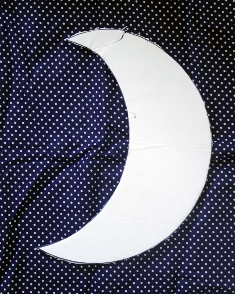DIY crescent moon sewing pattern.