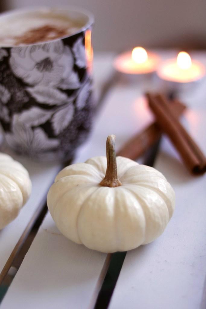 Mini white pumpkin--the key ingredient in a Cinderella Latte!