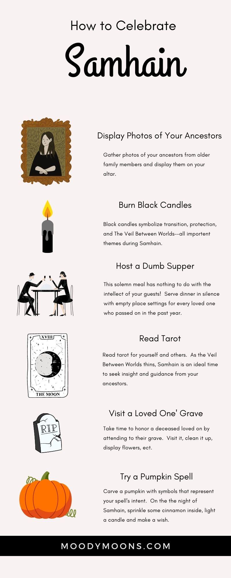 Creative ideas to celebrate the pagan holiday of Samhain.
