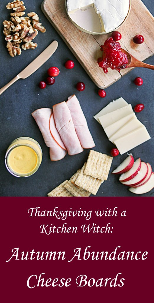 Make your Thanksgiving magical with a kitchen witch inspired autumn abundance board.