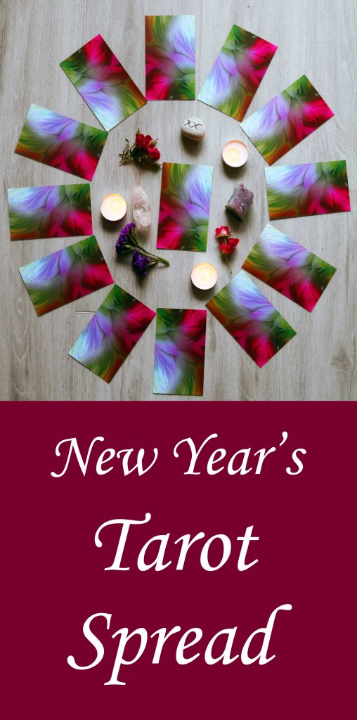 New Year's tarot spread.