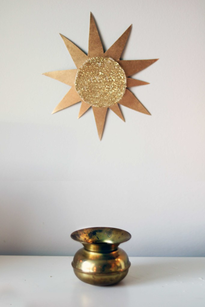 Gold symbolizes the return of the solar light.