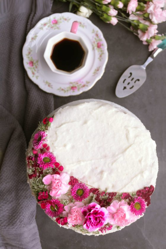Pink Moon Champagne Cake is an easy way to celebrate the April full moon! Nice for Easter or spring brunches, too!