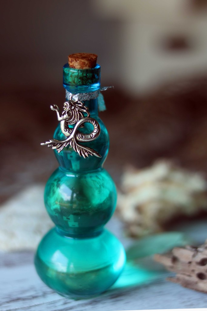 Sea witch ocean potion for Elemental Magic and evoking the power of water.