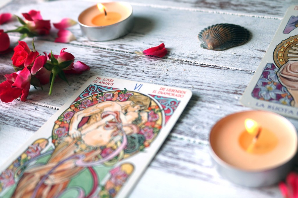 Using tarot cards as the basis for a love spell.