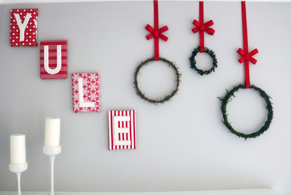 Yule wreath tutorial with evergreens and herbs.