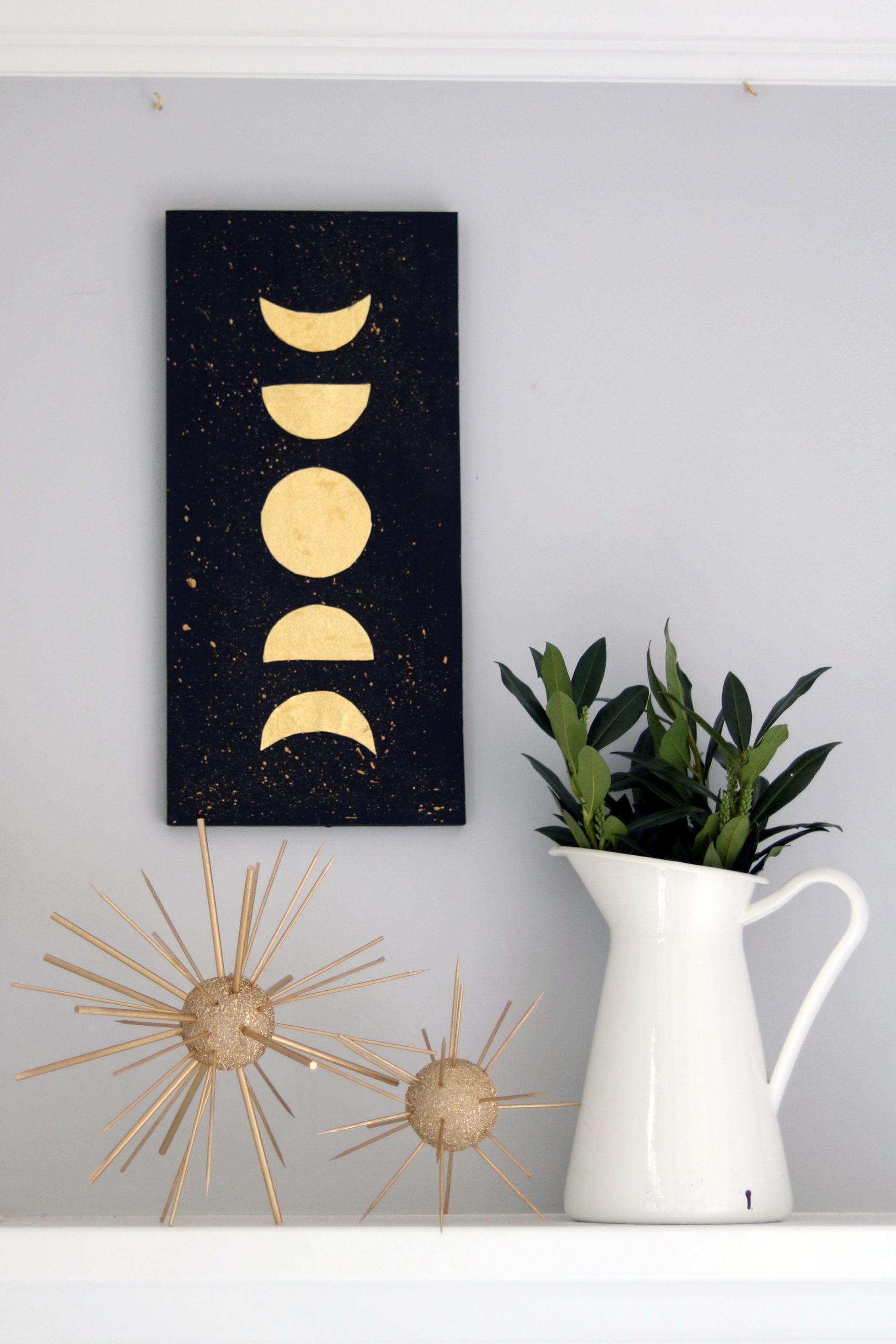 DIY Moon Phase Wall Art
