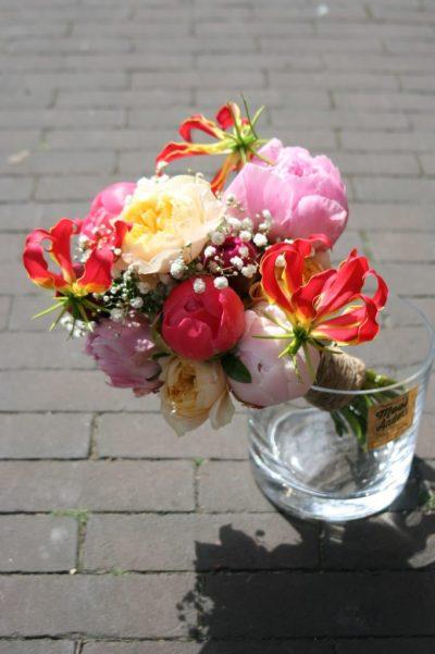 walk in wedding bouquet