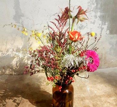 BinnenkortWorkshop bloemschik Basics; Kerst editie