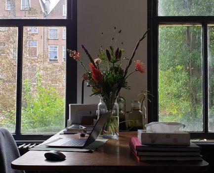 Vele bloemen maken het werk lichter