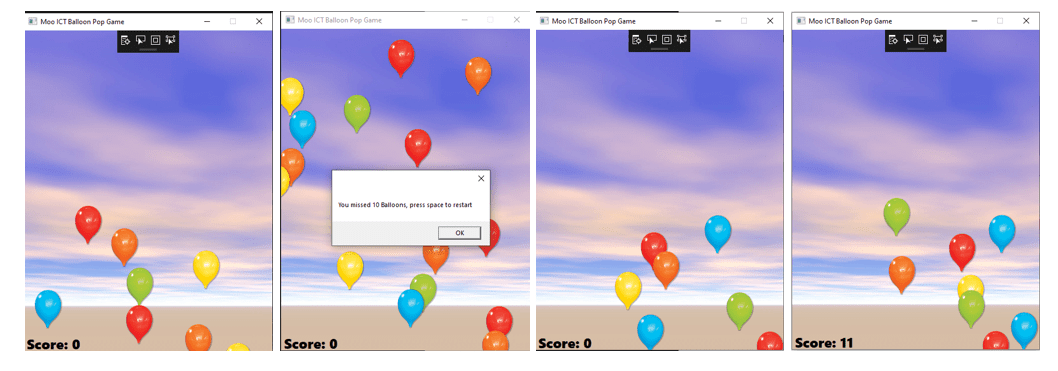 mooict wpf tutorial - the final part of the game its working, and all of the elements are working too for this balloon pop game