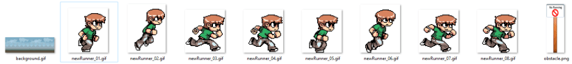 wpf c# parallax endless runner game tutorial sprite images