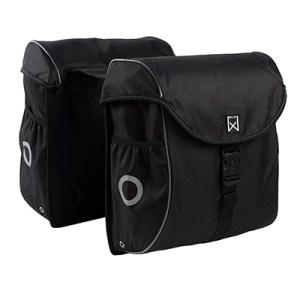 Willex dubbele bagagetas 300 zwart-zilver