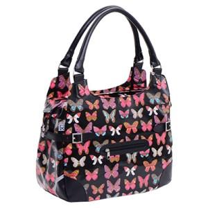 Willes Polykatoen shopper black butterfly-10151