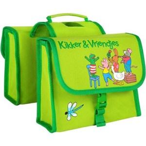 Willex dubbele kinderfietstas kikker-31605