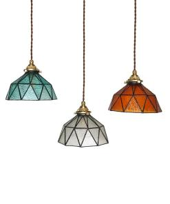 Vintage Pendant Lamp  Glass Shade (Handicrafts)