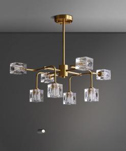 Square Crystal chandelier/Brass crystal chandelier