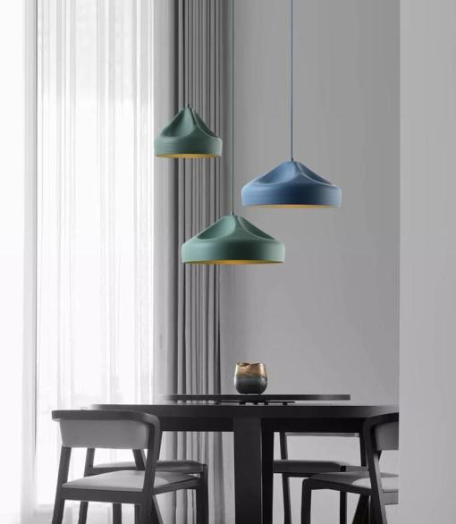 Pleat Box pendant Lamp metal version