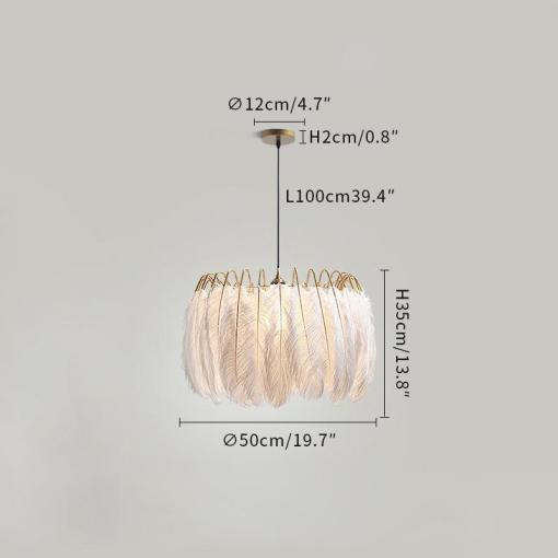 Feather Pendant Lamp