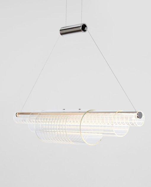 Lampe à suspension coaxiale