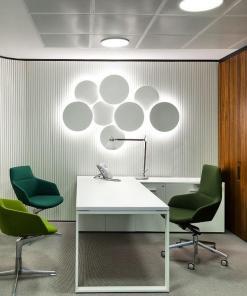 PUCK WALL ART | Fluorescent wall light