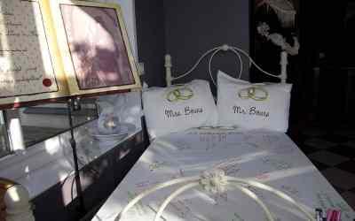 Alternatief gastenboek: een bed!