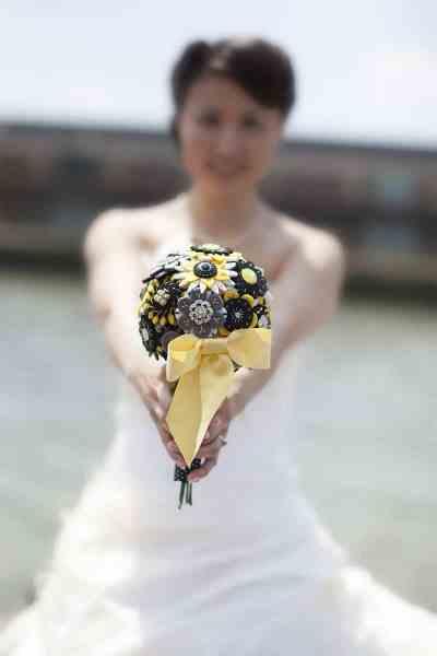bruidsboeket alternatief zelf gemaakt trouwdag trouwreportage