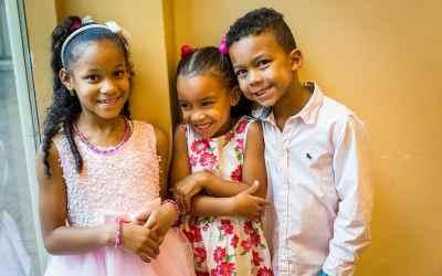 Kinderen op de trouwdag