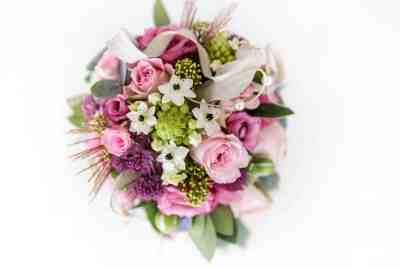 bruidsboeket trouwfoto afbeelding voorbeeld bruidsfotografie